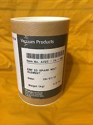 Edwards Vacuum EMF 20 Spare MS Oil Mist Filter Element, A223-04-199 NEW