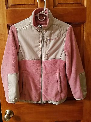 Girls Champion jacket coat  pink and gray youth size 10-12