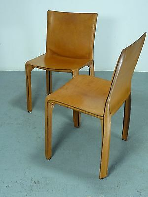 Paar/pair of Cassina CAB412 Stühle/chairs 2nd edition, design Mario Bellini 1977