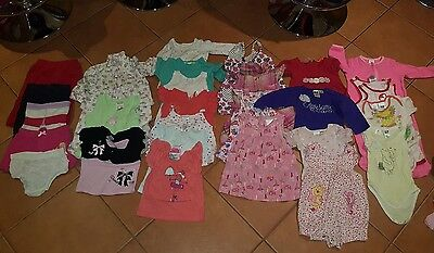 bulk girls clothing size 0 or 6 to 12 months (28 items)