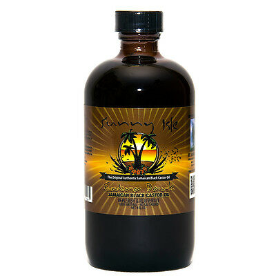 Sunny Isle Jamaican Black Castor Oil EXTRA DARK 8OZ 100% Natural No Salt Added