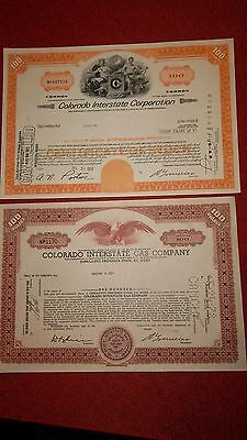6  COLORADO INTERSTATE GAS CO.  -   Stock Certificates Lot