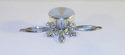 Mid century Vintage Chrome Ornate Floral Star Shape Cabinet Handle Rare