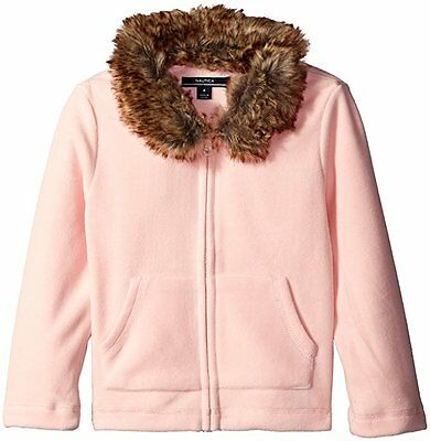 Nautica Girls' Fleece Jacket with Removable Faux Fur Collar NWT size 5