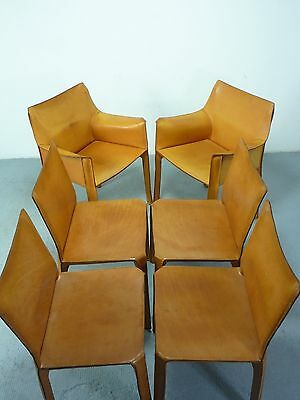 sechs/six (6) Cassina Cab Stühle/chairs, 2nd & 3rd edition, design Mario Bellini