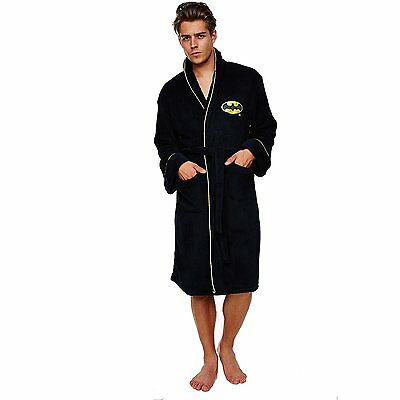 Batman The Dark Knight Fleece Gown Adult Soft Bath Robe Official Gift For Him