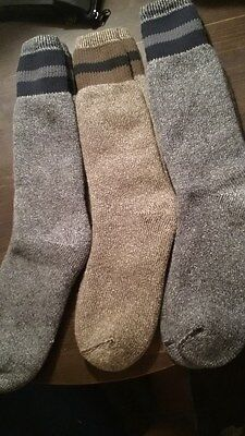 Wigwam American Wool Boot Socks 3 Pack    Size Large            Retail $34.99