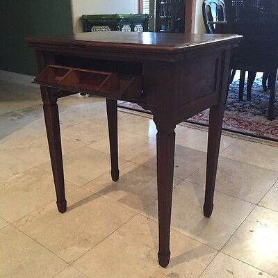 Antique mahogany side table -singer sewing table