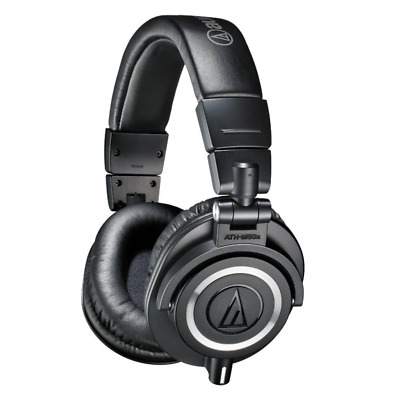 Audio Technica ATH-M50X Studio Monitor Headphones - Black