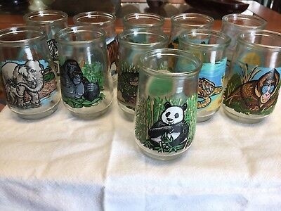 Welch's Endangered Species Complete Collection 12 Jelly Jars Great Condition!!!