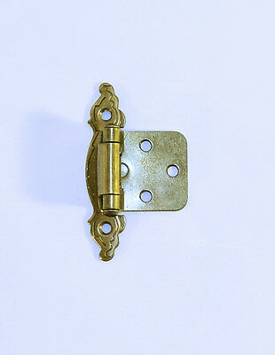 Vintage Solid Brass Ornate Cabinet Hinge Kitchen Cupboard Hardware