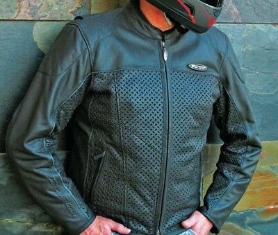 Harley-Davidson Perforated Leather FXRG Riding Jacket Men's 2XL Tall
