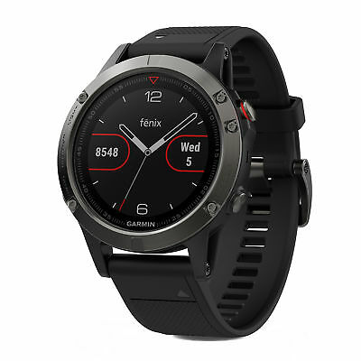 Garmin fenix 5 47mm Multisport GPS Fitness Watch Slate Gray with Black Band