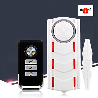 Rechargeable Wireless Vibration Alarm Anti-Theft Remote Control Security Alerter