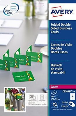 100 CARTES DE Visite Doubles Bords Lisses QuickClean 220g M