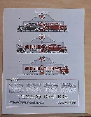1939 magazine ad for Texaco - Buy Fire-Chief get circle service, cleanliness
