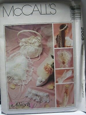 McCALL'S BRIDAL ACCESSORIES PATTERN