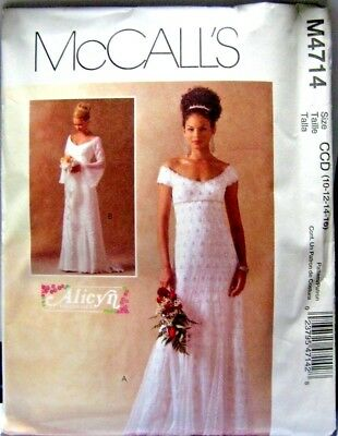 MCCALL\'S BRIDAL GOWNS ALICYN EXCLUSIVES PATTERN (M4714) - $7.99 ...