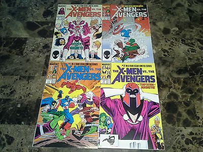 X-Men vs Avengers 1 2 3 4 1-4 NM to VF+ 9.4 to 8.5 High Grade Complete Set 1987