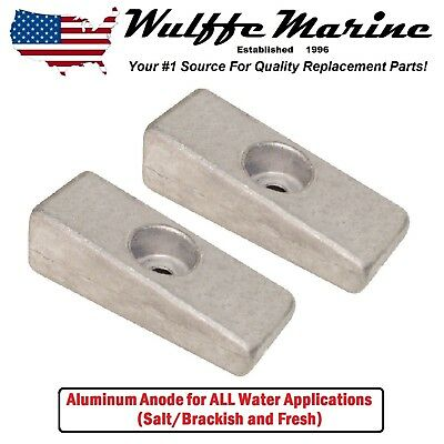 Aluminum Side Pocket Wedge Anode 2 pack Mercury Outboard 826134 826134Q 18-6068