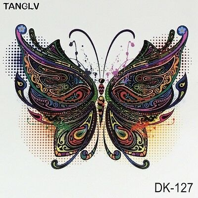 Small Butterfly Rainbow Magic Arm Ankle Temporary Fake Tattoo Transfer Sticker