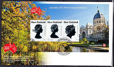 NEUSEELAND Mi-Nr.Bl.311 FDC Internationale Briefmarkenausstellung AUSTRALIA 2013