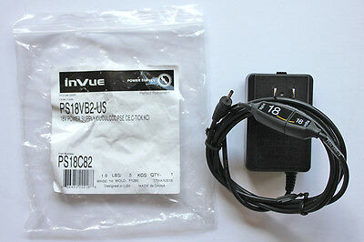 NEW InVue 18 volts Power Supply PS18VB2-US Security Alarm Display ITE