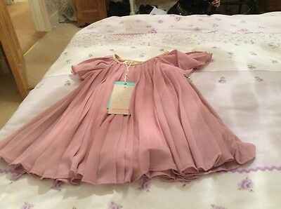 Monsoon pink party dress - 0-3 months new with tags 'Beatrice'