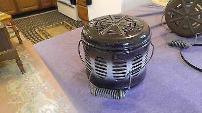 Vintage Kerosene Heater Replacement Part Chimney & Handle Porcelain 8.5""