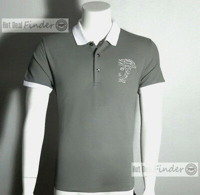 0d3c63bc2 NEW VERSACE COLLECTION = L Large = Men's Half Medusa Gray Polo Shirt ...