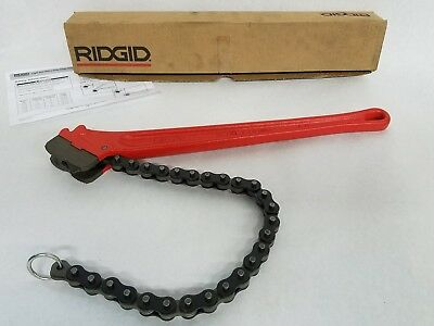 Rigid 31325 C-18 Heavy Duty Plumber Red Chain Wrench 2-1/2 Inch Pipe & Fittings