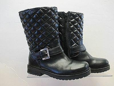 Girls Faux Leather Quilted Fashion Boots size 28 (U.S. 11M)
