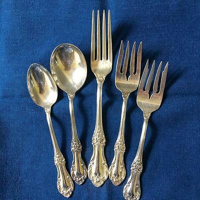 Vintage International Sterling Wild Rose 5 Pieces