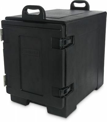 Carlisle Cateraide End-Loading Insulated Food Pan Carrier, 5 Pan Capacity, Black