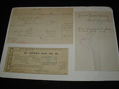 1800's Nangatuck Railroad Invoices Mounted Collection!