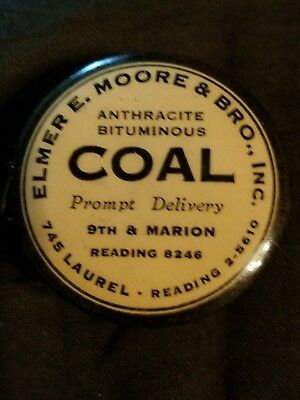 Vinage Celluloid Tape Measure Elmer E. Moore COAL Reading PA Perfect Condion 40s