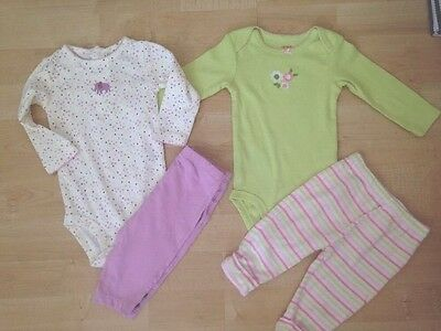 Carter's Baby Infant Girl's Outfits Elephants Flowers 6 6M Months