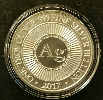 1 oz .999 Silver coin skull 2nd amendment don't tread on me Punisher ar15 3%