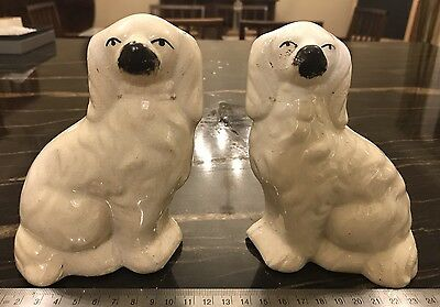 Vintage Pair 19th Century Staffordshire Style Dogs