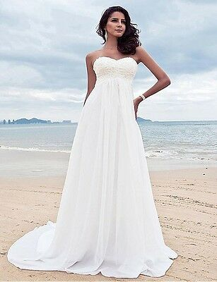 Simple Boho Wedding Dress For Pregnant Women Maternity Bridal Gown