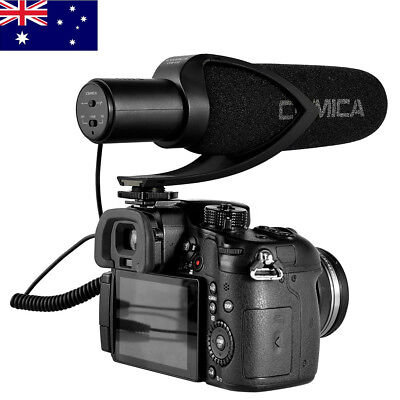 AU CoMica CVM-V30 Black Microphone Video Photography DV Camera Sound Recording