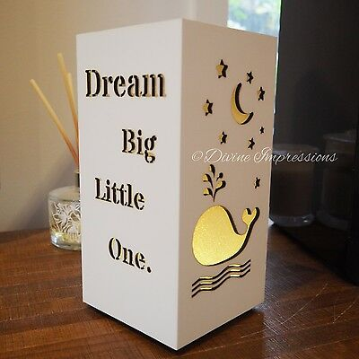 LED Night Light Up Block Inspirational Quotes Baby Nursery Dream Big Little One
