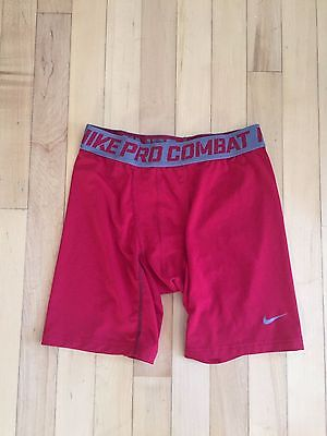 NIKE Pro Combat DIR-FIT Compression Youth Shorts Size: XL Color: Red