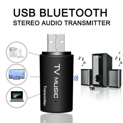 Bluetooth Audio Transmitter Stereo 3.5mm Music Dongle Adapter For TV PC MP4 USB