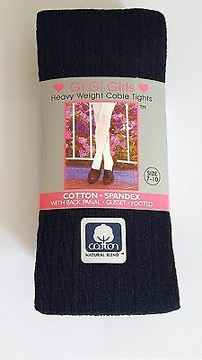 Girls Cotton70% School Uniform Footed Color Tights 4-6 to14-16  Buy 2 Get 1 Free