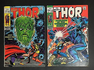 Marvel Comic Lot Of 2 Thor #164 & 170