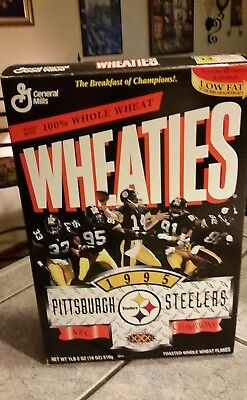 Pittsburgh Steelers 1995 AFC Champions Wheaties NFL Collectors cereal box
