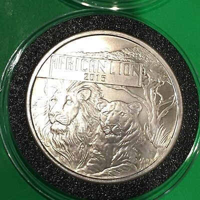 African Lion Republic Of Burundi Collectible Coin 1 Troy Oz .999 Fine Silver 999