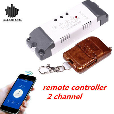 2-Channel Wifi Relay Control Module + 433MHz Remote Inching Control Self-Lock de