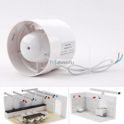 """4"""" Inline Duct Booster Exhaust Blower ABS Insulation Air Cooling Vent Fan 12W DA"""